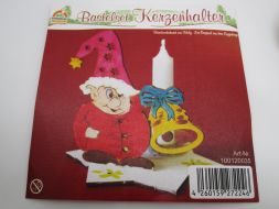 Craft kit candle holder - gnome, bell
