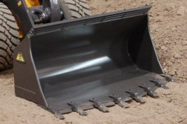 Rock bucket for quick hitch