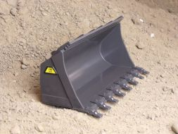 Universal bucket with cutting edge and teeth